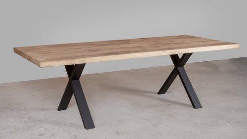 Robuuste Eikenhouten tafel XR44