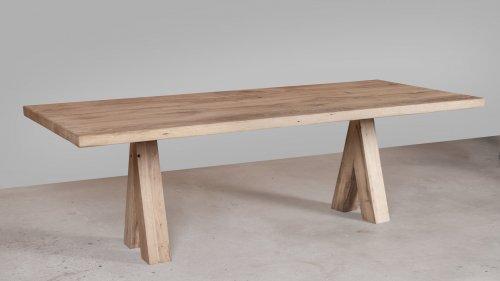 Robuuste Eikenhouten tafel XR49
