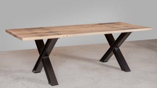 Eikenhouten tafel spoorbiels XB72