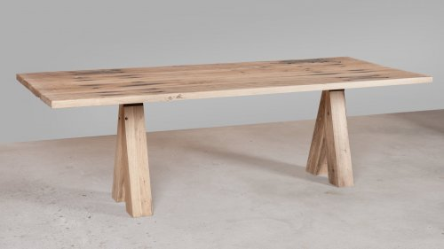 Eikenhouten tafel spoorbiels XB77