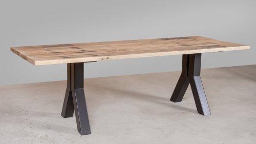 Eikenhouten tafel spoorbiels XB78