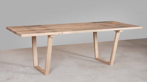 Eikenhouten tafel spoorbiels XB79