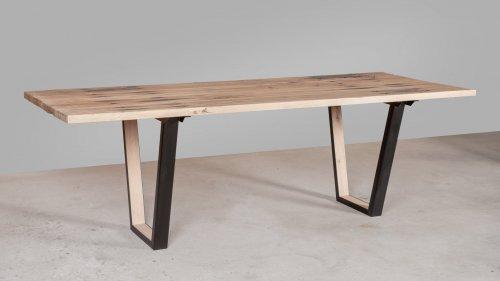 Eikenhouten tafel spoorbiels XB80