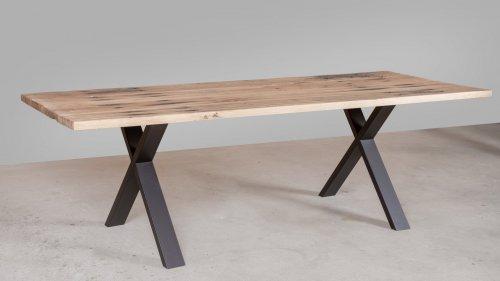 Eikenhouten tafel spoorbiels XB82