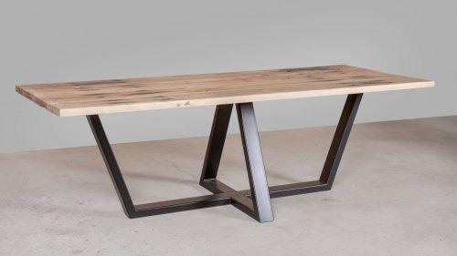 Eikenhouten tafel spoorbiels XB83