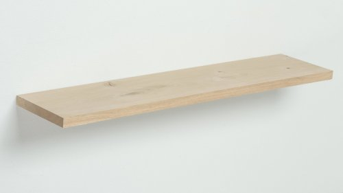 Wandplank Eikenhout met blindewandmontage - tot 80cm breed