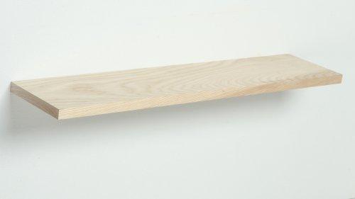 Wandplank Essenhout met blindewandmontage - 80 tot 140 cm breed