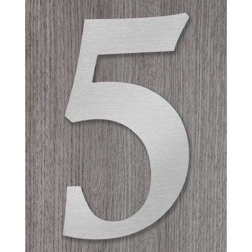 RVS Huisnummer elegant model lettertype Calisto, 8