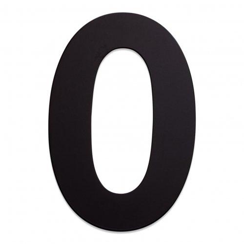 RVS huisnummer zwart 0