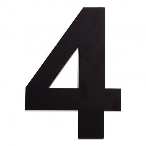 RVS huisnummer zwart 4