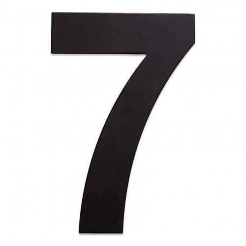 RVS huisnummer zwart 7