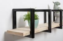 Wandbeugels stoere vierkanten plankdragers voor planken tot 15 cm diep